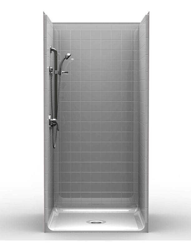 Walk In Shower Water Barrier : Lrs fb b multi piece quot barrier free accessible