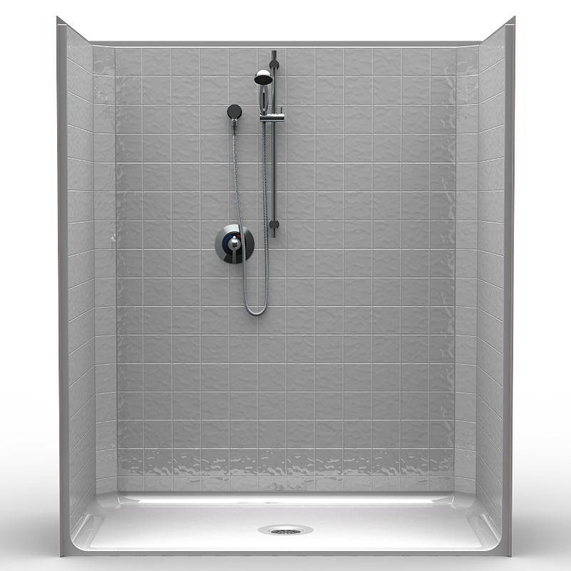 Walk In Shower Water Barrier : Cs b one piece quot barrier free accessible