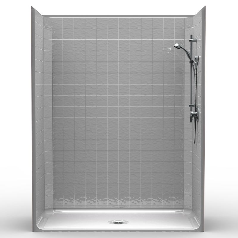 Walk In Shower Water Barrier : Lcs b one piece quot barrier free accessible