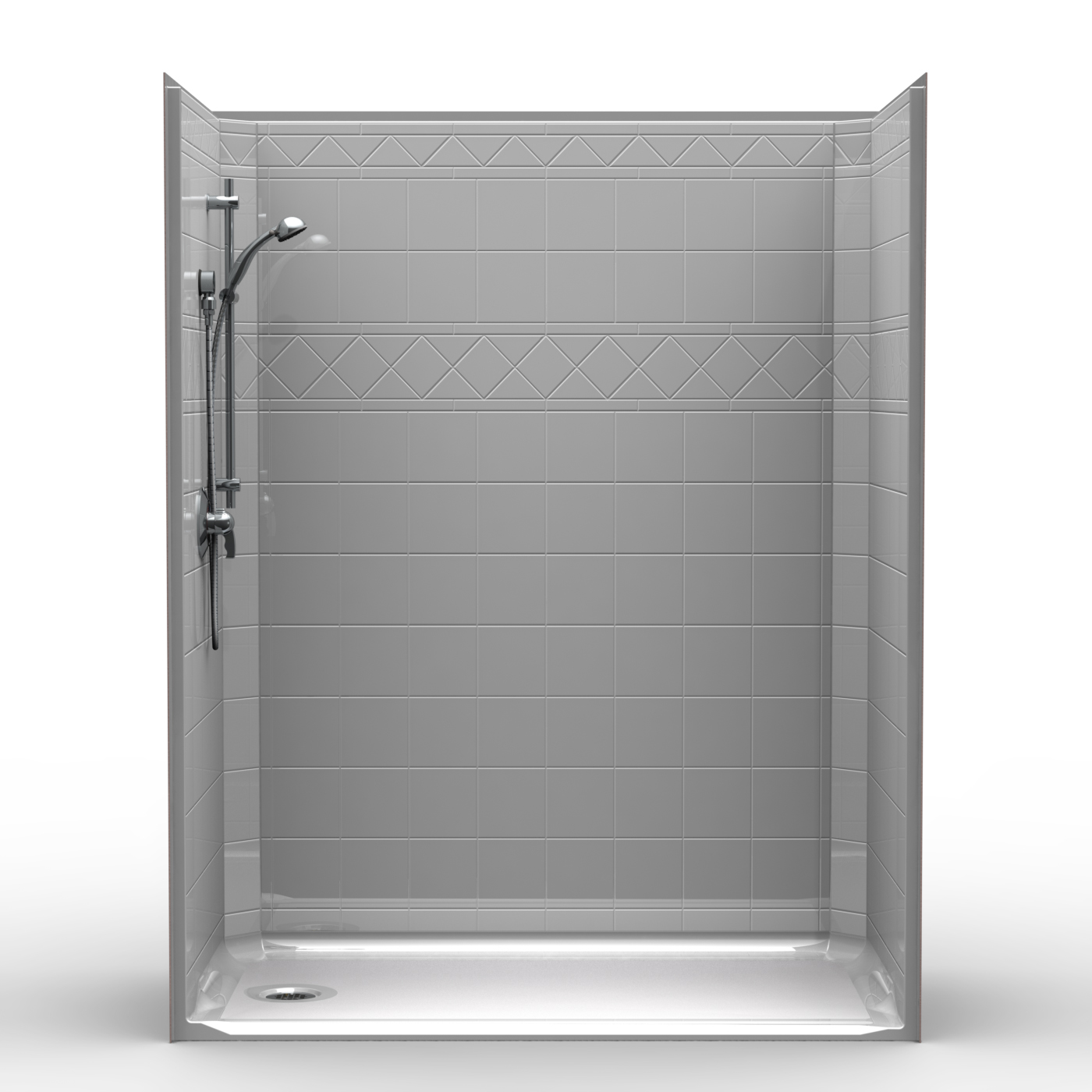 Walk In Shower Water Barrier : Lds e b one piece quot l r barrier free accessible