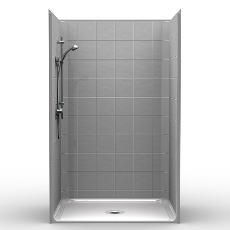 Walk In Shower Water Barrier : Ld b t one piece quot barrier free accessible