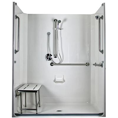 Model 5LESS6333A75 ADA Compliant Roll In Shower