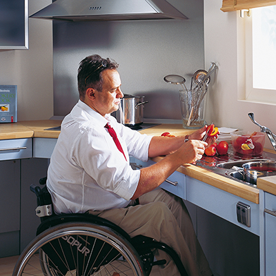 Countertop Height For Wheelchair : BASELIFT Adjustable Counter Lift Barrier Free