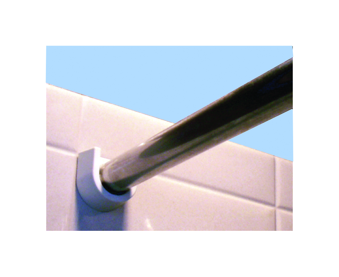 stainless steel shower curtain rod barrier free